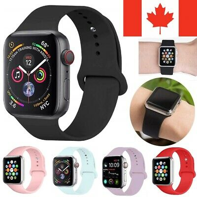 Replacement Silicone Sport Band Loop Strap For Apple Watch Series 5 4 3 2 1