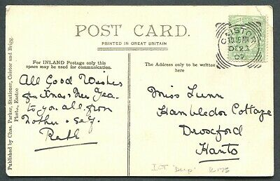 """Great Britain Squared Circle Cancel """"Caistor"""" On Postcard"""