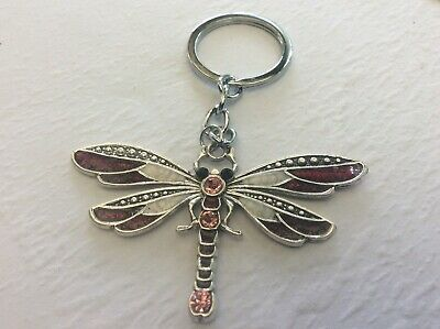 Dragonfly Beautiful Colourful Keychain Key Chain Ring Keyring