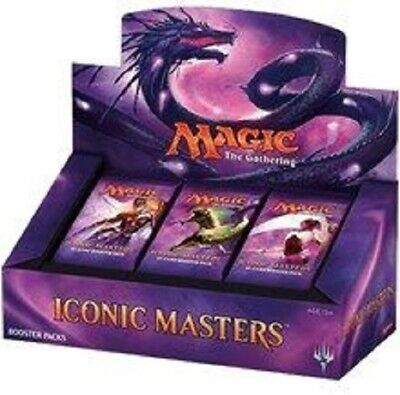Magic: the Gathering ICONIC MASTERS BRAND NEW SEALED BOOSTER BOX 24 PACKS FOILS