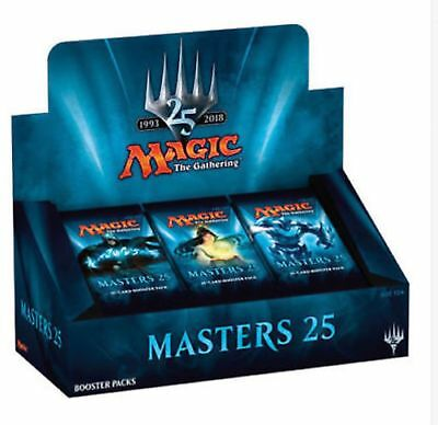 Magic: the Gathering MTG MASTERS 25 BOOSTER BOX BRAND NEW SEALED 24 PACKS FOILS