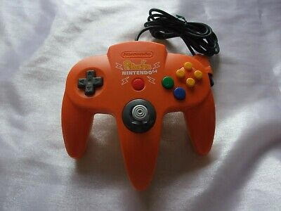 Nintendo 64 Official Orange Yellow Pokemon Pikachu Controller N64 GREAT STICK