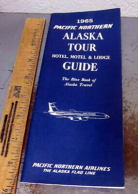 vintage 1965 Pacific Northern Airlines Alaska tour hotel, motel & lodge guide