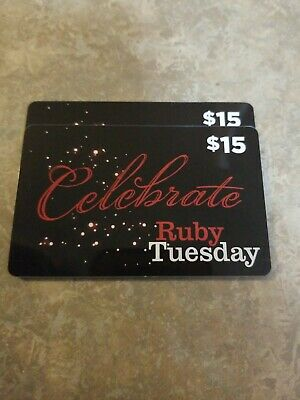 Ruby Tuesday Physical Gift Card $30 Value, Only $28.45 -  Free Shipping!