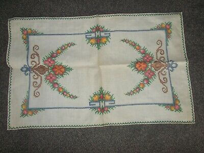 vintage embroidered doiley as new never started