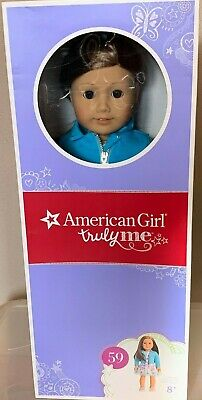 "NEW in Box American Girl Truly Me #59 18"" Doll Light Skin Brown Hair & Eyes"