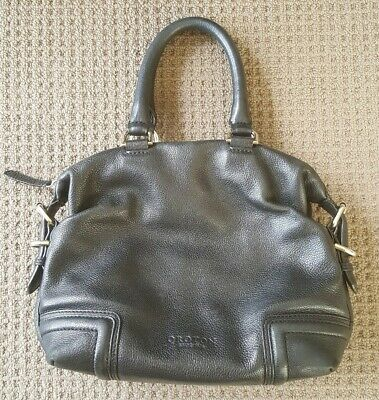 Black Leather Oroton Handbag. Ladies. Vintage.