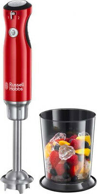Frullatore ad Immersione Russell Hobbs Minipimer 700W + Bicchiere Rosso 25230-56