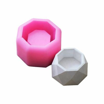 Soap molds 3D Succulent Plant Flower Pot Silicone Mold Gypsum Cement Meaty  F3V1
