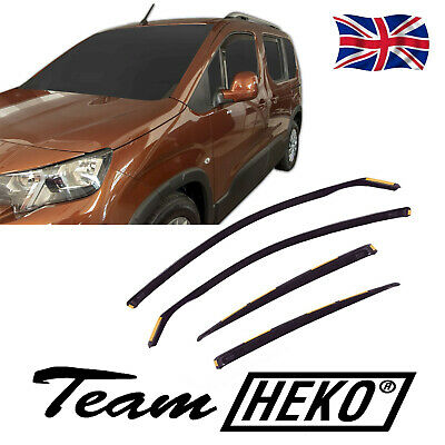 CITROEN BERLINGO 2018-up WIND DEFLECTORS 4pc HEKO TINTED