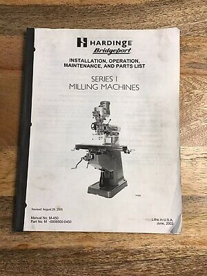 Original Bridgeport Series I Milling Machine Installation Manual No. M-450