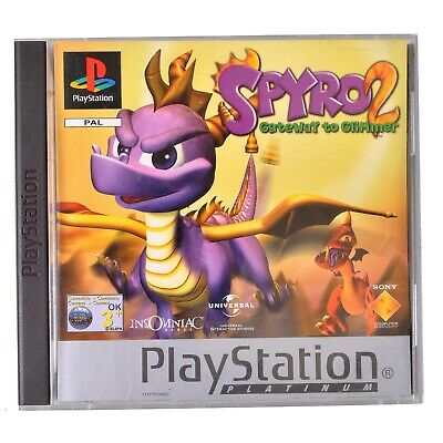 Spyro 2 Gateway to Glimmer For Sony PlayStation 1 - Complete - PAL