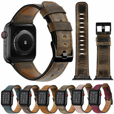 Genuine Leather Bands Strap For Apple Watch 5 4 3 2 1 38/42/40/44mm iWatch Band