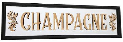 Art Deco 1920s Vintage Style Mirrored Champagne Sign - Decorative Drinks Plaque