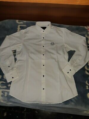 Philipp Plein originale  camicia Cotone bianco uomo men's cotton White  shirt