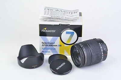 MINT BOXED PROMASTER AF 28-300mm f3.5-6.3 SPECTRUM 7 XR LD IF LENS FOR CANON EF