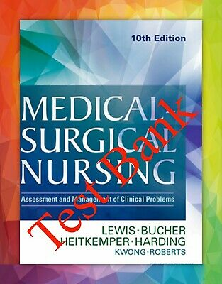 TEST BANK Sharon Lewis Medical-Surgical Nursing 10th