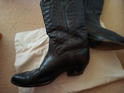 Loblan  black leather cowboy boots size 11, used