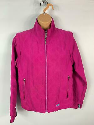Womens Joules Pink Cerise Diamond Quilted Padded Zip Casual Coat Jacket Size Xs