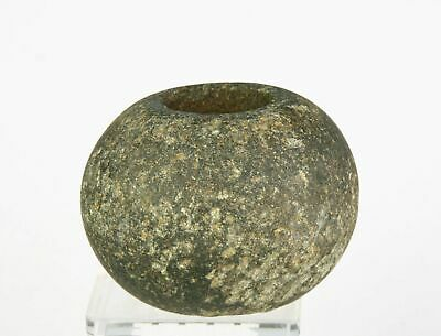 *Sc*Rare & Superb Danish Neolithic Blackstone Mace Head, 2800-2400 Bc!