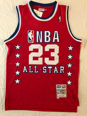 1989 #23 Michael Jordan All Star Throwback Classic Mitchell & Ness RED Jersey