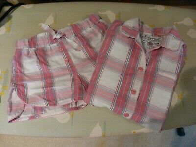Marks  Spencer Autograph girls pyjamas with shorts age 7/8 VGC in pink