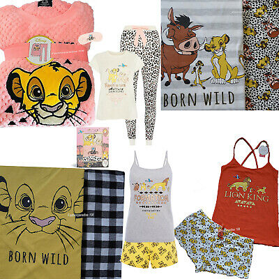 Disney THE LION KING Pyjamas Girls Ladies Cami Pajamas Women's SIMBA PJs Primark