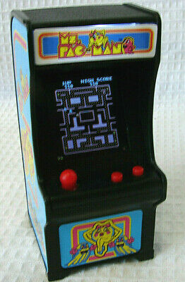 Tiny Arcade Ms Pac Man Miniature Video Game Mini Toy Keychain *Used* VG!