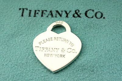 Tiffany & Co. Sterling Silver Please Return To New York Heart Charm Pendant