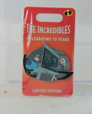 Disney Parks LE 3000 Pin 15th Anniversary Pixar The Incredibles Mirage Mr Bob