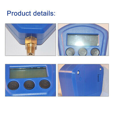 Accurate Portable Single Manifold LCD Display Pressure Gauge Air Conditioner
