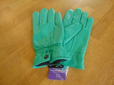 Moonbeck Leather Gloves Ladies Jade Green Size XL Brand New Soft Leather