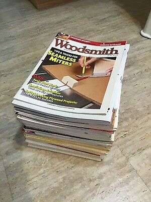 Lot of 53 Woodsmith Magazines