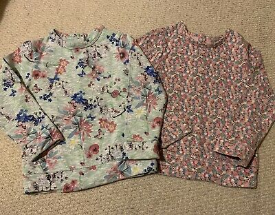*NEXT* 2 X Girls Ditsy Floral Jumpers Sweatshirts Size 4-5 Years
