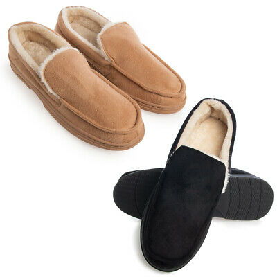 Gold Toe Mens House Slippers Memory Foam For Men Indoor Outdoor Warm Loafers