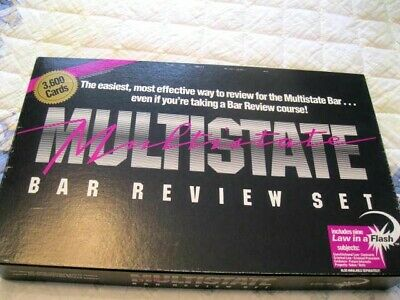 MULTISTATE BAR REVIEW SET Never Used 1987 3600 Cards, NIne Law Areas Covered