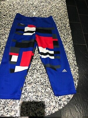 Girls Adidas blue leggings age 11-12 years