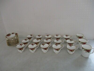 Royal Albert Bone China England Old Country Rose Cups + Plates Lot