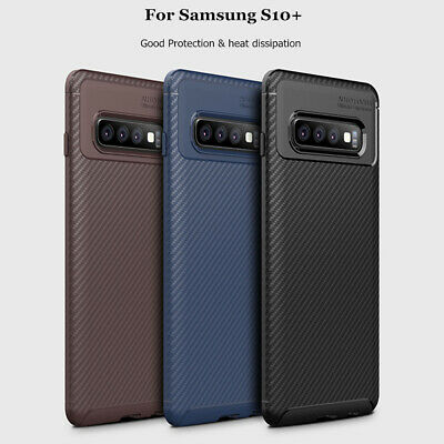 For Samsung Galaxy S10 5G Case S10 Plus S10e Slim Carbon Fiber Soft Rubber Cover