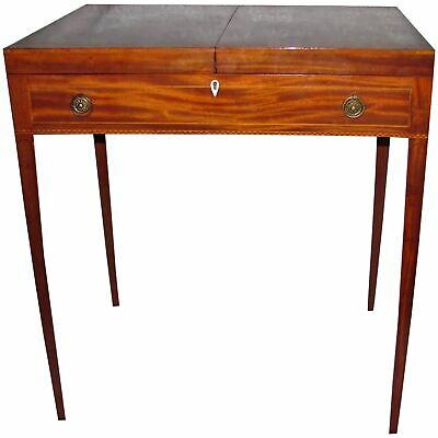 Antique English Georgian Mahogany Gentlemans Dressing Table Circa 1790
