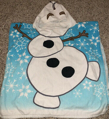 Disney Jumping Beans Frozen Olaf Hooded Towel for Babies White Blue