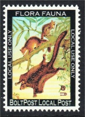 Flying Squirrel Fantasy Stamp Artistamp by BoltPost Local Post