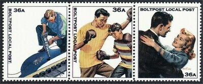Father's Duties Factory Worker Boxing Dancing Fantasy Stamps Artistamp Boltpost