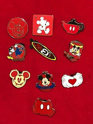 10 Disney pins  Mickey Mouse R  As Seen  Lot x