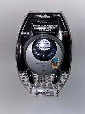NEW Craig Electronics Portable CD Player 60 Second Anti-Skip Personal Stereo