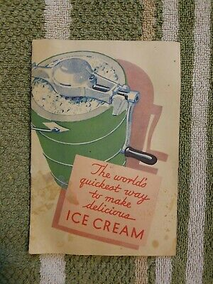 Vintage 1931 Jell-o Company Ice Cream Recipe Book