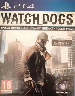 Watch Dogs by Ubisoft Video Game for Sony PlayStation 4 ps4