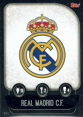 Topps Match Attax Champions League 19/20 Card No. Rea 1 Club Badge Real Madrid