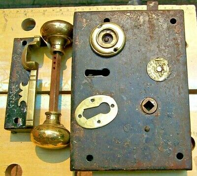 Antique H&T Vaughan No.60 Real Door Lock Right Hand, Made Late 1800- Early 1900