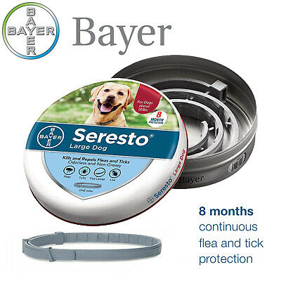 Bayer Seresto Flea and Tick Collar for Large Dog,8 Month Effective Protection